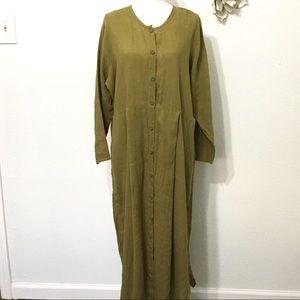 Flax Jeanne Englehart  Long Sleeve Ankle Dress